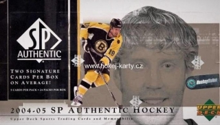 2004-05 UD SP Authentic Hockey Hobby Box