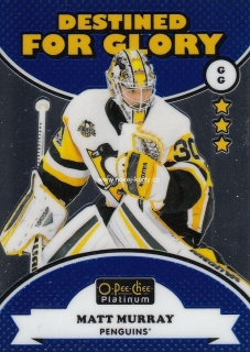 insert karta MATT MURRAY 17-18 OPC Platinum Destined for Glory číslo DG-2