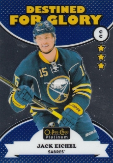 insert karta JACK EICHEL 17-18 OPC Platinum Destined for Glory číslo DG-7