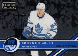 insert karta AUSTON MATTHEWS 17-18 OPC Platinum In Action číslo IA-5