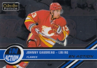 insert karta JOHNNY GAUDREAU 17-18 OPC Platinum In Action číslo IA-8