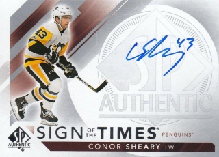 AUTO karta CONOR SHEARY 17-18 SP Authentic Sign of the Times číslo SOTT-CS
