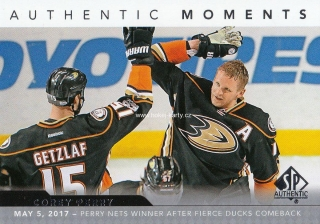 insert karta COREY PERRY 17-18 SP Authentic Authentic Moments číslo 106
