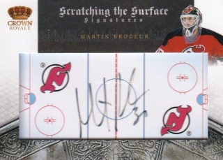 AUTO karta MARTIN BRODEUR 10-11 Crown Royale Scratching the Surface /25