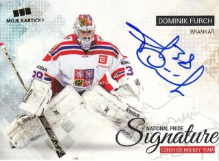 AUTO karta DOMINIK FURCH 17-18 Czech Ice Hockey Team National Pride Signature/10