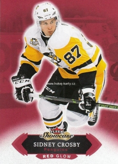 paralel karta SIDNEY CROSBY 16-17 Fleer Showcase Red Glow číslo 1