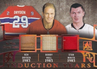 jersey patch karta DRYDEN/HULL/MIKITA 17-18 ITG Used Induction Years /12