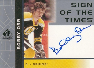 AUTO karta BOBBY ORR 02-03 SP Authentic Sign of the Times číslo BO