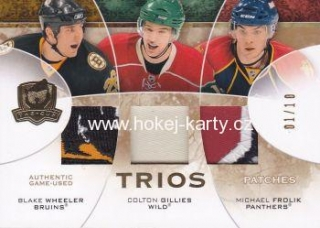 patch karta WHEELER/GILLIES/FROLÍK 08-09 UD The Cup Trios Patches /10