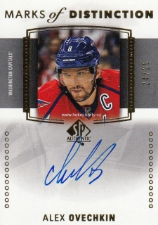 AUTO karta ALEX OVECHKIN 16-17 SP Authentic Marks of Distinction /25