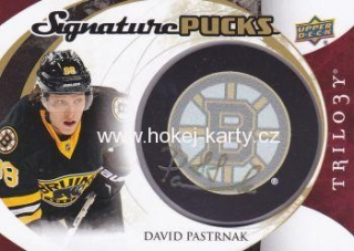AUTO puck karta DAVID PASTRŇÁK 15-16 Trilogy Signature Pucks číslo SP-PA