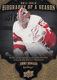 insert karta JIMMY HOWARD 11-12 UD Biography of a Season číslo BOS19