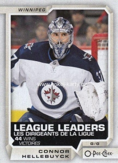 insert karta CONNOR HELLEBUYCK 18-19 OPC League Leaders číslo 594