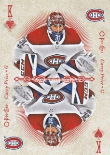 insert karta CAREY PRICE 18-19 OPC Playing Cards číslo K-HEARTS