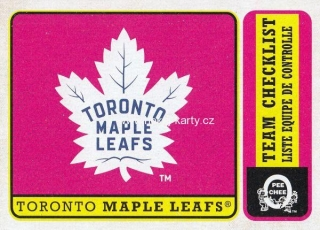 insert karta TORONTO MAPLE LEAFS 18-19 OPC Team Checklist Retro číslo 563
