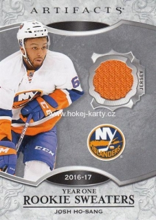 jersey karta JOSH HO-SANG 18-19 Artifacts Year One Rookie Sweaters číslo RS-JH